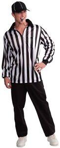 Forum-Novelties-Men-039-s-Referee-Costume-Shirt-and-Hat