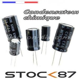 1 à 25pcs Condensateur chimique 400V 1  2,2   3,3   4,7   10   22  33  47  100uF