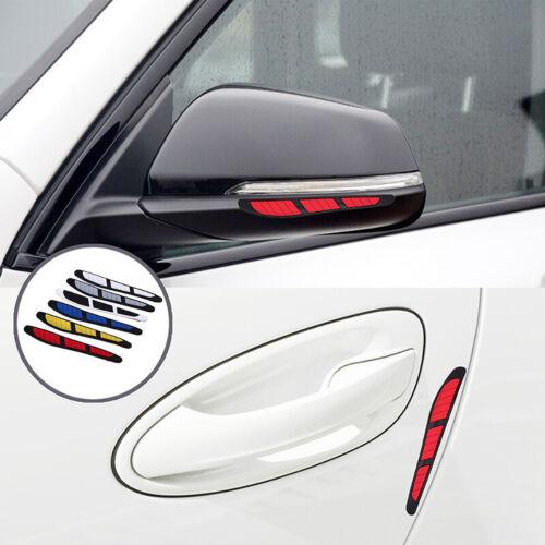 4x Red Car Door Edge Guard Rubber Strip Protector Side Mirror Anti-collision
