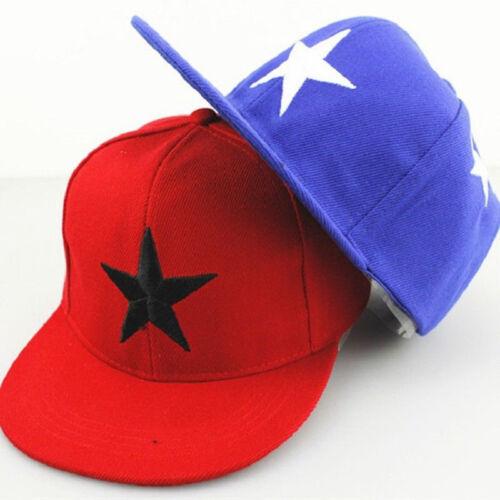 Kids Boy Girl Star Emoji Baseball Cap Adjustable Snapback Hip-hop Summer Hat Cap
