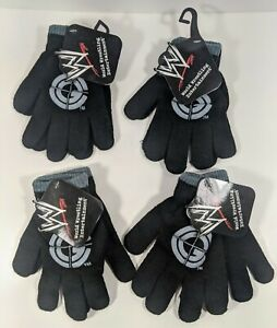 4-Pairs-Of-WWE-John-Cena-Knit-Gloves-Kid-039-s-One-Size-Fits-Most-New