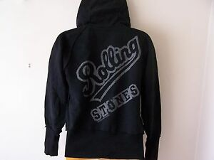 *NEW TAGGED* AMPLIFIED AC//DC AC DC SPRAY LOGO LADIES MID GREY HOODIE SMALL S 8