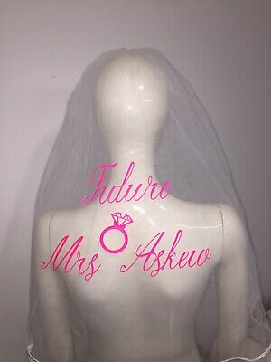 Personalised Hen Party Veil  Army Print Stunning Bride To Be