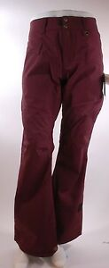 2015-NWT-WOMENS-RIDE-CAPPEL-WASTED-SNOWBOARD-PANTS-M-port-red-maroon
