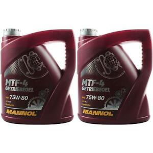 2x-4-Liter-Original-MANNOL-Getriebeoel-MTF-4-Getriebeoel-75W-80-Gear-Oil