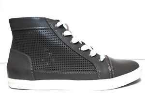 Top Sneakers Leather Charcoal Gray