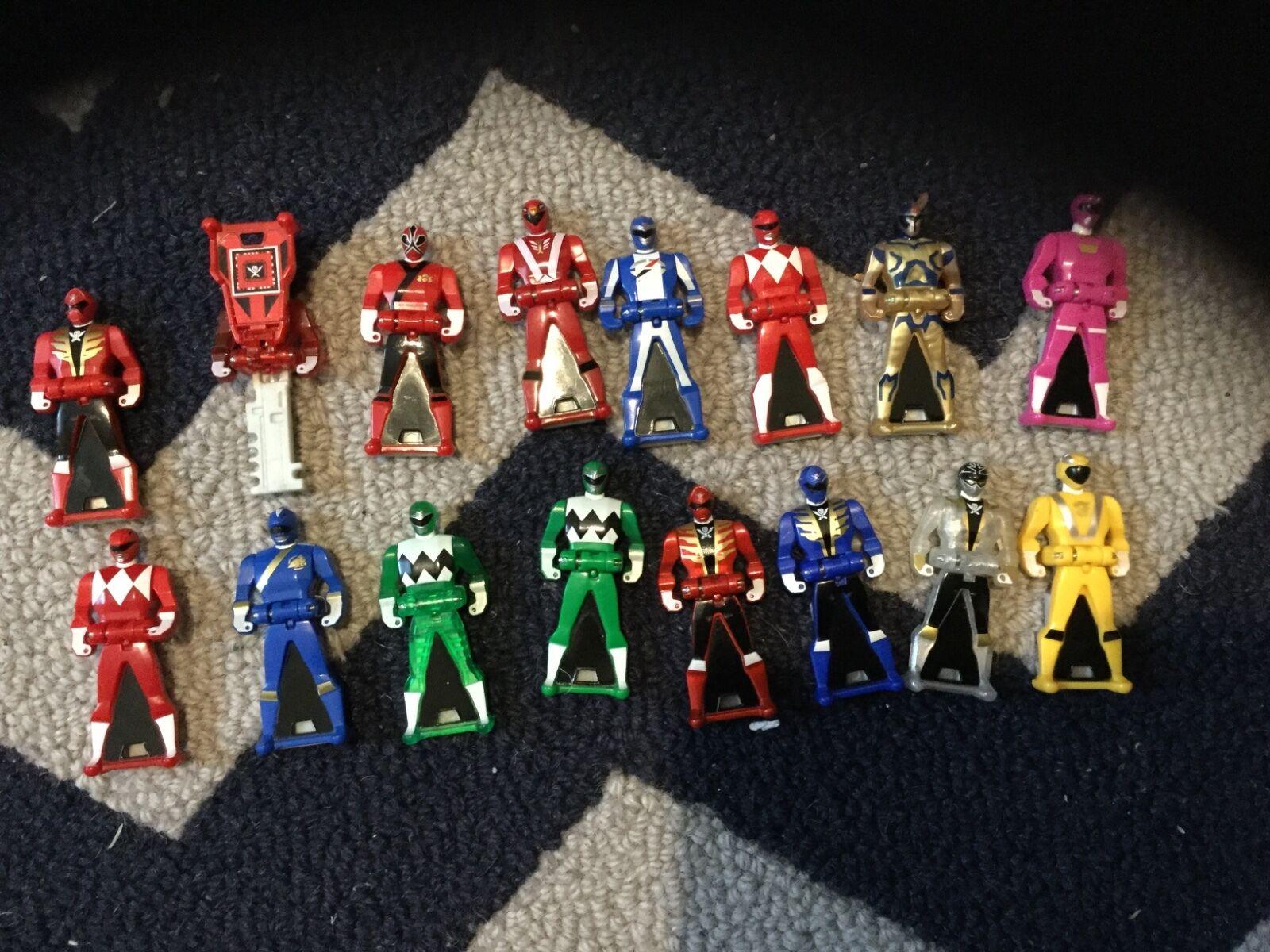 Power Rangers Super Megaforce Ranger Llaves Amarillo Rojo Azul Verde Plata Oro Rosa