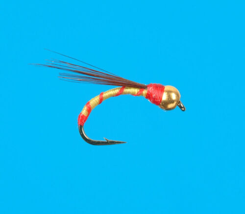 Gold Head Yellow /& Red Pupa size 18 6 pcs