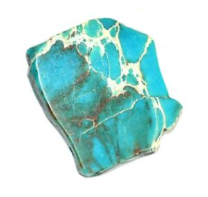 """Natural """"CARCIO LAKE TURQUIOSE"""" 75.05 CT Slab Drilled Untreated AGSL Certified"""