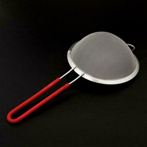 Kitchen Various Stainless Steel Handle Seive Fine Mesh NEW Sifters Strainer F7D1