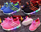 LED Kid Shoes Boys Girls Light Up Sneakers Baby Toddler Luminous Casual Trainers