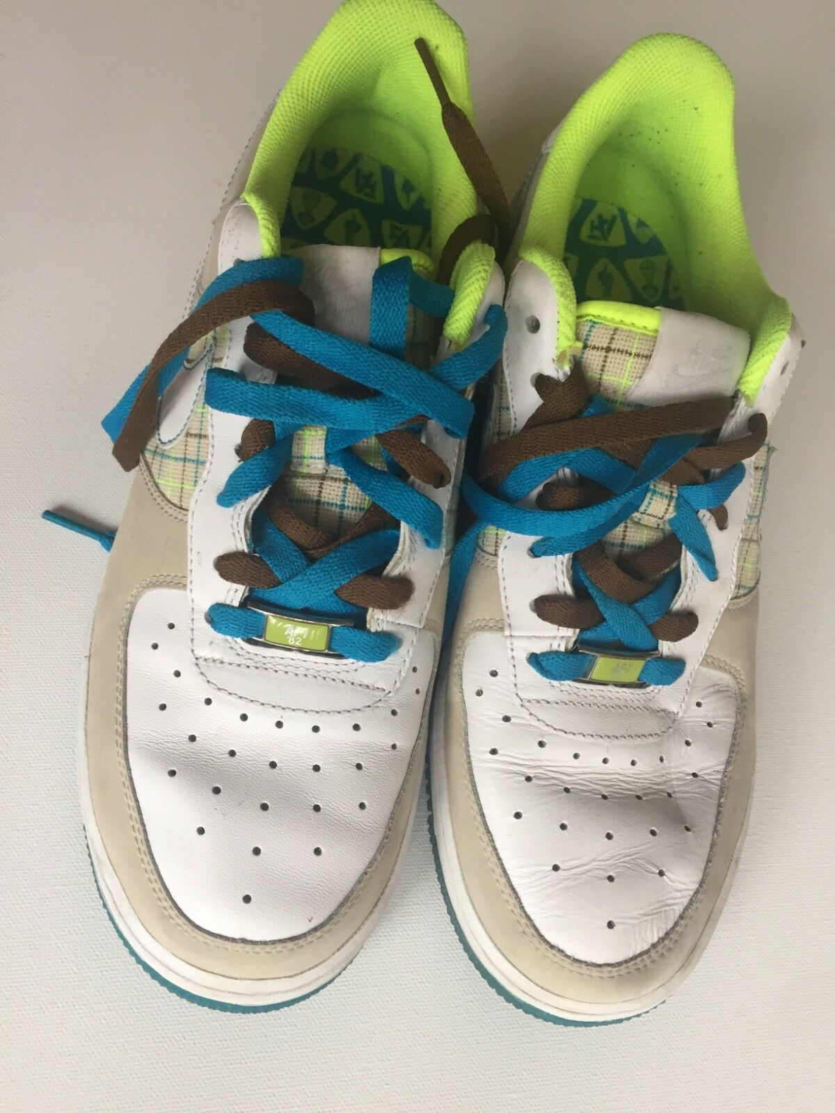 eb65340cf930 nike air air air af-1 82 men sneakers 10.5 green white turquoise 86c81a