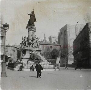 Francia-Avignon-Place-Monumento-c1920-Foto-Stereo-Placca-Da-Lente-VR12hc