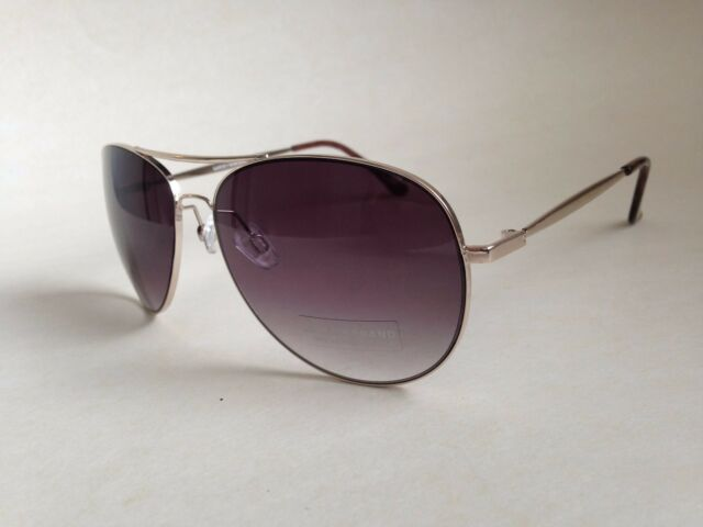 2afa6017ab6ee Lucky Brand Men s Aviator Sunglasses D917 Pale Gold Metal Gray Gradient Lens