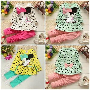 Baby clothes baby kids girls cotton outfits spring clothes tops&pants cartoon