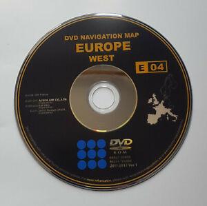 2011-2012-Toyota-Lexus-Generation-1-Sat-Nav-Map-update-WEST-DVD-disc
