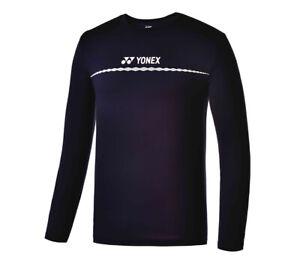 YONEX 19 F//W Men/'s T-Shirts Badminton Apparel Clothing Navy Racquet NWT 99TL004M
