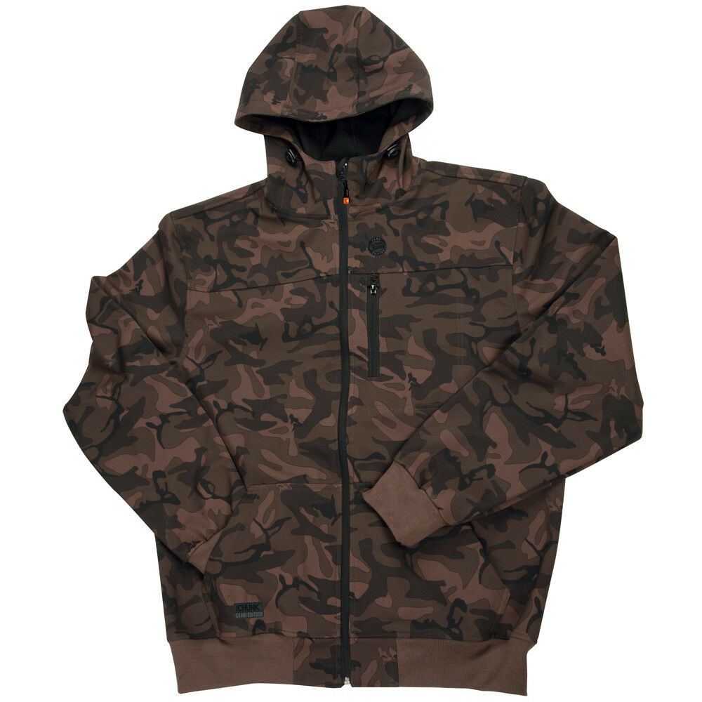 NEW Fox Chunk Camo Softshell Hoodie Shower & Wind Resistant Medium CPR889