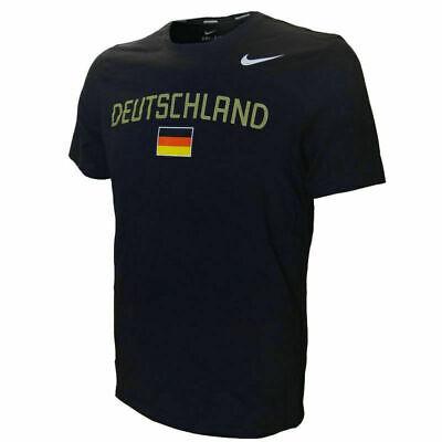 Cordiale Nike Men's Dlv Germania Deutschland Paese Athletics Tee T-shirt Top 329012 Nuovo-mostra Il Titolo Originale Asciugare Senza Stirare