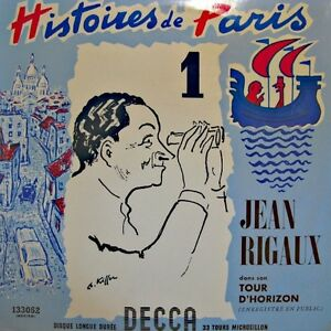 JEAN-RIGAUX-histoires-de-paris-LIVE-LP-25cm-DECCA-tour-d-039-horizon-1-VG