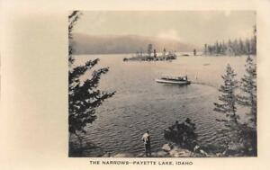 RPPC-The-Narrows-PAYETTE-LAKE-Idaho-c1910s-Vintage-Photo-Postcard