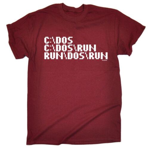 C Dos Run Computer Programmer T-SHIRT Geek It Programming Funny birthday gift
