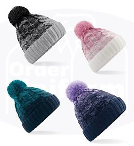 9f4b1d42d9bf9 CABLE KNITTED BOBBLE CHUNKY HAT PLAIN MENS WOMENS BEANIE WINTER POM ...