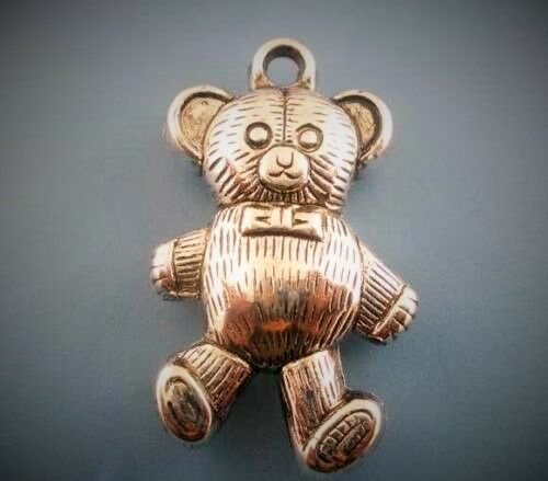 großer Anhänger Teddy-Bär Kuscheltier Tier Bärli Mädchen Schmuck Kette silber