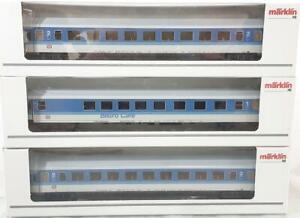 MARKLIN-4384-4327-3-RAIL-DB-INTERCITY-EXPRESS-COACHES-amp-BISTRO-CAFE-CAR-SET