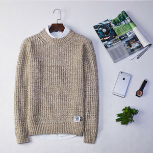 50dca00a1c1f88 Image is loading Men-Casual-Winter-Autumn-Knit-Pullover-Sweater-Jumper-