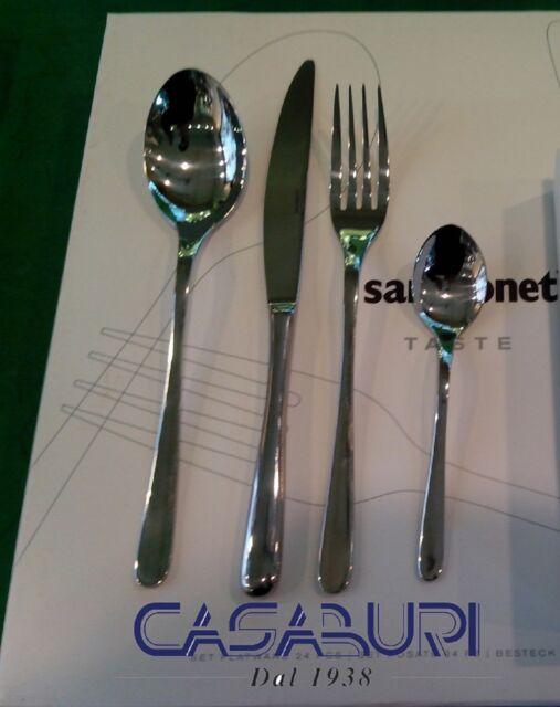 Edelstahl Sambonet Taste Besteck Grau 24 TLG
