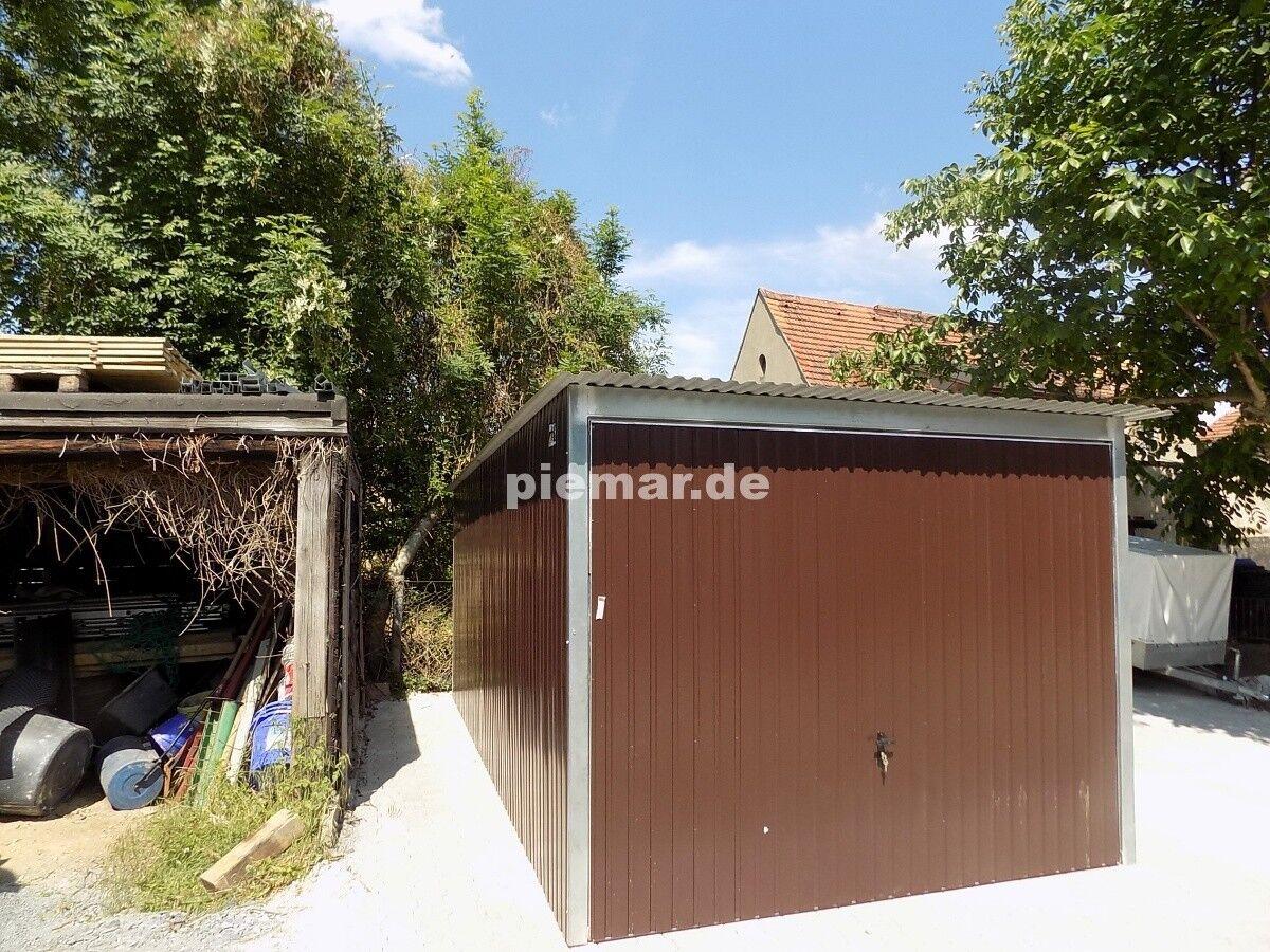 Blechgarage 3x6,5 R8017 Lager Halle Garage aus verzinkten Vierkantprofilen