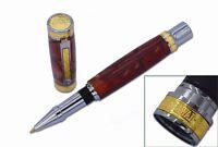 10 Pack, Chrome & Gold Accents Hawaiian Love Pen Woodturning Kits, W/bushings