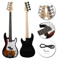 New 4-String Electric Bass Guitar Burning Fire Style Golden