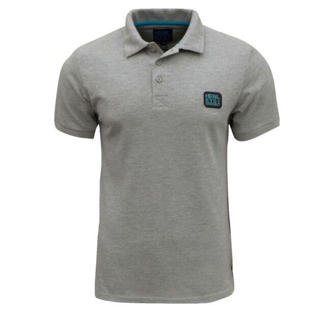 Henleys Men's Loffer Polo T Shirt Grey