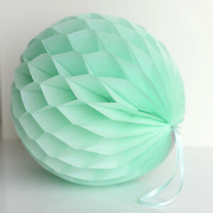 Image Is Loading Mint Color Tissue Paper Honeycomb Wedding Party