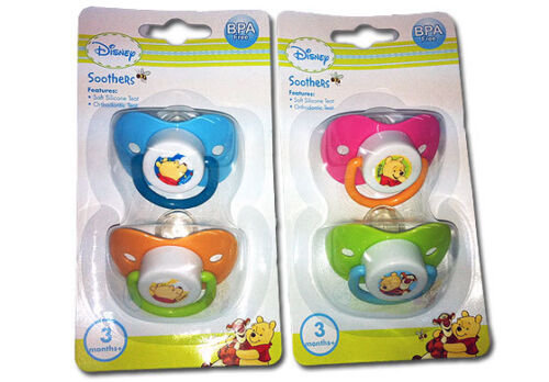 Disney Winnie the Pooh soother Twin Pack Baby Soother Pacifier 3 months