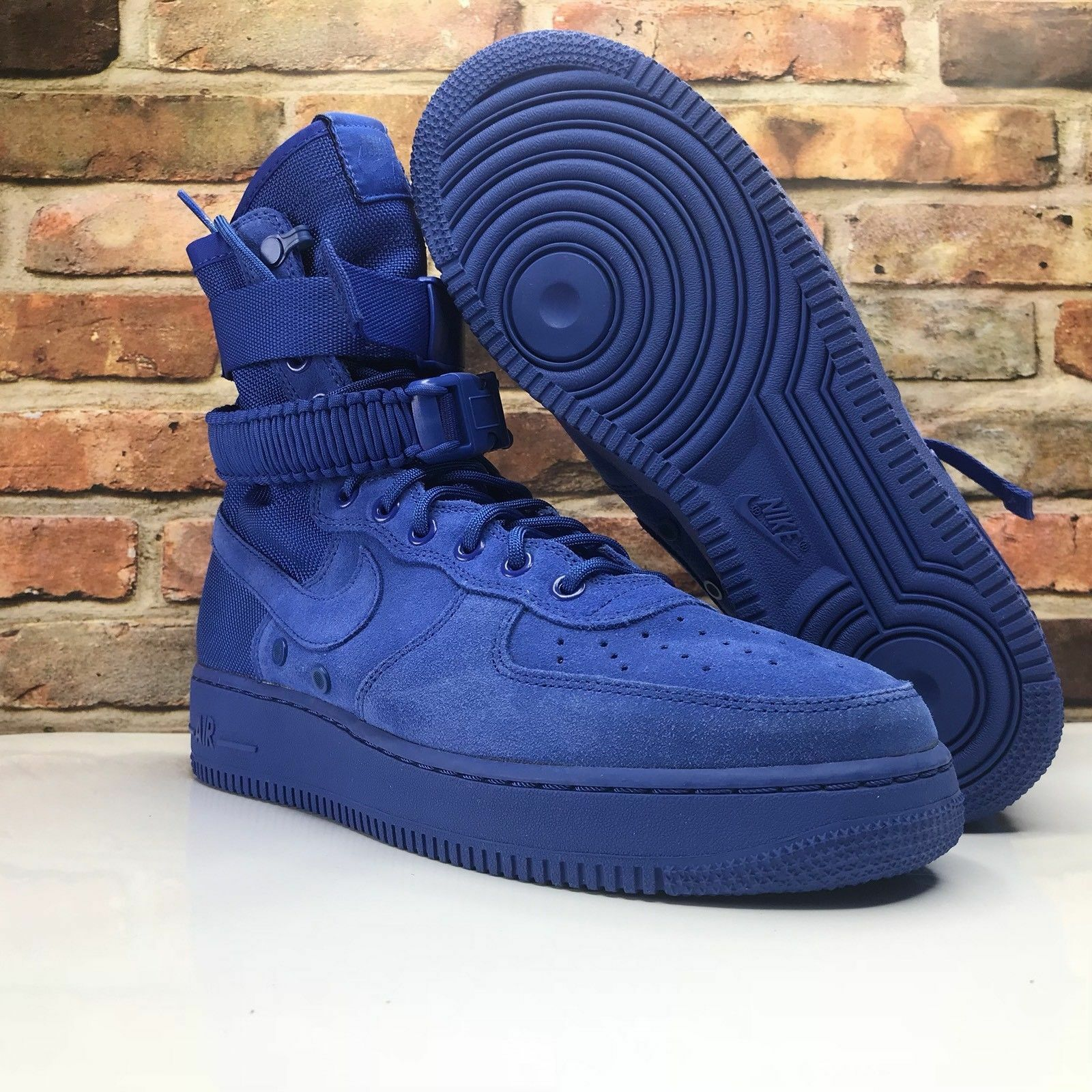 NEW Nike SF Air Force 1 Mens 864024-401 Game Royal bluee Nylon Suede shoes Size 9