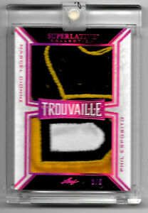 2019-20-Phil-Esposito-Marcel-Dionne-Leaf-Superlative-Trouvaille-Dual-Patch-3-5