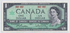Bank-of-Canada-1967-1-Beautiful-Centennial-Note-CRISP-UNC