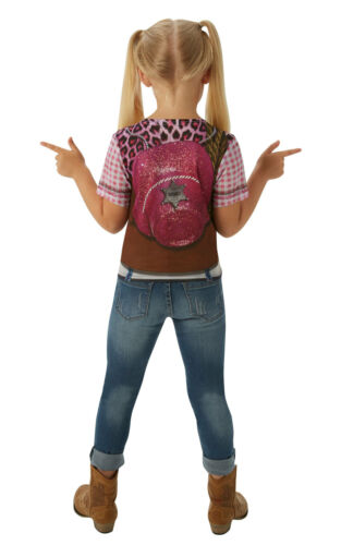 Cowgirl Costume T Shirt Wild West Western Book Day Fancy Dress Top 3D Small
