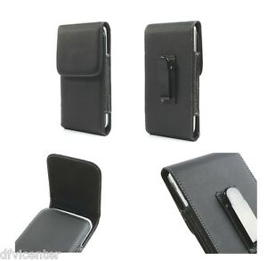 Leather-flip-belt-clip-metal-case-holster-vertical-for-gt-XOLO-Q600-Club
