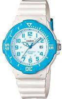 Casio Women's Dive Style Analog Blue White Date 12/24 100M Watch LRW-200H-2BVCF