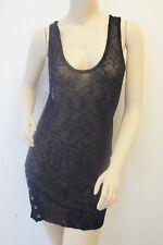TOPSHOP Limited Black Mesh Tunic Top Dress 12 £38 MX5