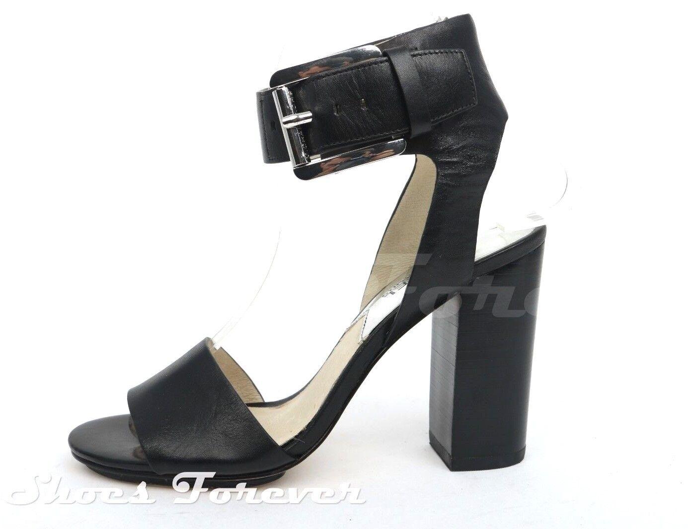 Damenschuhe MICHAEL / MICHEAL KORS schwarz Leder Sandale ankle strap sz. 5.5 M NEU