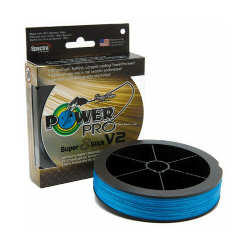 NEW POWER PRO SUPER SLICK SSV2 BRAID Blue 10Lb 150Yd 31500100150A