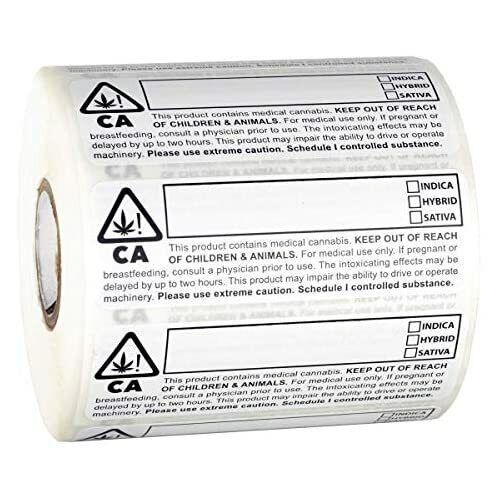 1,000pc Sticker Roll Dragon Chewer California Compliant Identification Labels