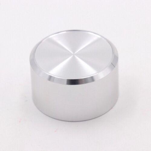 1PCS Bisel Estilo Aluminio Plata 38*22 DAC//amplificador Perilla De Volumen Potenciómetro