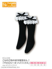 Azone Pureneemo Lolita High Socks White x Black Blythe Momoko Pullip Obitsu 1/6