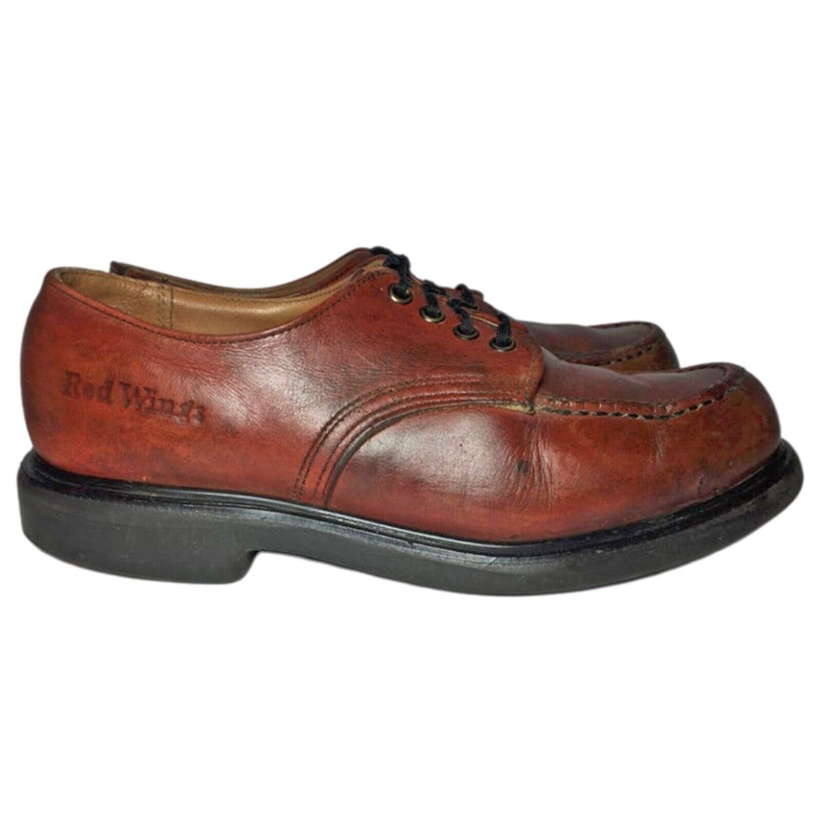 RED WING® Vintage 90's Postman Brown Leather Oxfo… - image 5